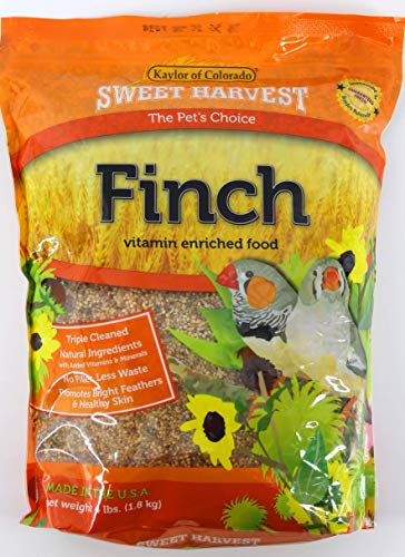 Sweet Harvest Finch Bird Food, 4 lbs Bag - Seed Mix for Finches