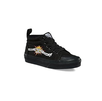 4a43fd7ae279 Vans Kids Racer Mid (Canvas) Shoes Bones Black VN0A38HFMMZ (11 M US