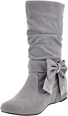 RAZAMAZA Femmes Confort Slouch Boots Plates