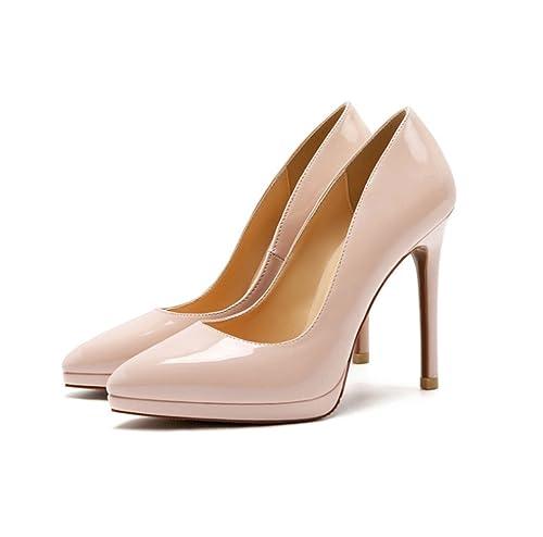 Alto Mujer Stiletto Tacon Moda Fiesta Con Para Mogeek Plataforma Elegante Zapatos JTcKl1F
