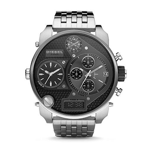 (Diesel Men's DZ7221 Mr. Daddy Silver Watch)