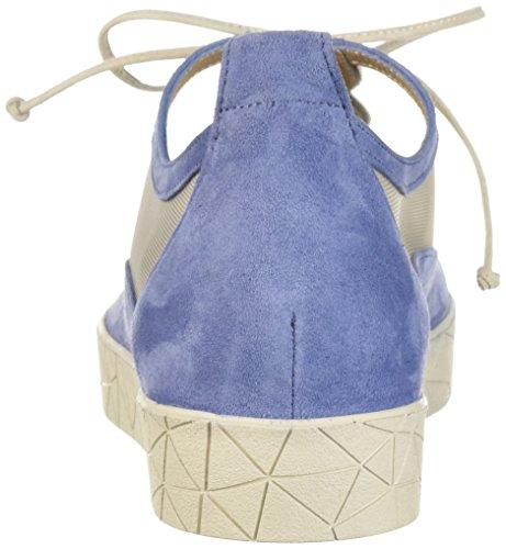 Prachtige Denim Sneakers Van Suède / Nude Van Zhuri Sneaker Van Ragfijn