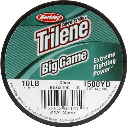 Berkley big game fishing line ultra clear 10lb test for Big game fishing line