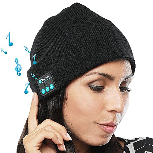 Bluetooth Beanie Hat for Men Women Syolee Wireless 4.1 Smart Musical Knit...