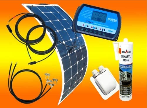 bau-tech Solarenergie Flexibles Solarmodul Solarpanel 120Watt 12Volt Mono semi Flex GmbH