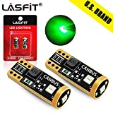 LASFIT 194 168 T10 192 2825 W5W LED Bulb Canbus Error Free, Non-Polarity 400LM Extremely Bright for Dome Map Courtesy Door License Plate Trunk Cargo Lights, 12-24V, Green (Pack of 2)