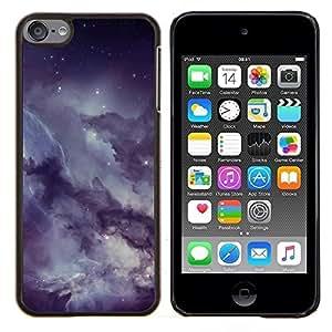 /Skull Market/ - Misty Cloudy Starry Sky Night For Apple iPod Touch 6 6th Generation - Mano cubierta de la caja pintada de encargo de lujo -