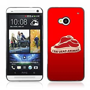 Designer Depo Hard Protection Case for HTC One M7 / Meat Message