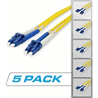 Fiber Patch Cord - 5 Pack - Duplex - LC to LC - Singlemode (3 Meter)