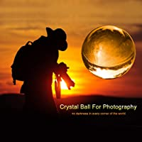 Photograph Lens ball with Pouch, K9 Crystal Suncatchers Ball with Microfiber Pouch, Decorative and Photography Accessory