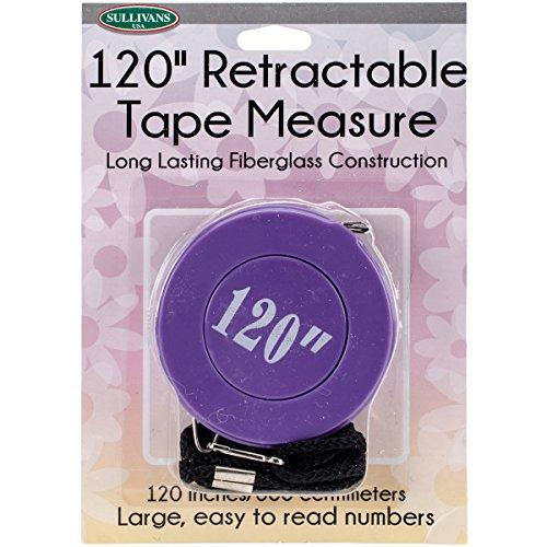 Sullivans 37268 Retractable Tape Measure, 120