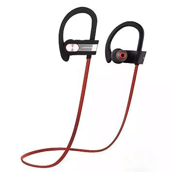ICONNTECHS IT Auriculares deportivos sin cables Bluetooth V4.1: Set de auriculares estéreo intraurales con cancelación de ruido,micrófono funciones de voz ...