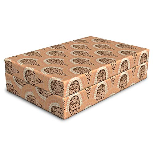 (Lunarable Abstract Pet Bed, Art Nouveau Pattern in Soft Colors Animal Print Inspired Dotted Forms, Animal Mat Foam and Stylish Printed Cover, 24
