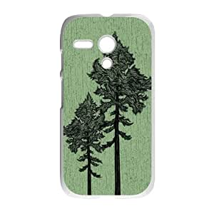 Motorola G Cell Phone Case White Forest Trees VIU030484