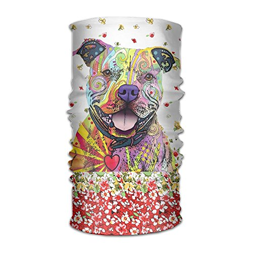 Colors Print Pitbull Unisex Variety Scarf Head Scarf Scarves Face Masks For Sale