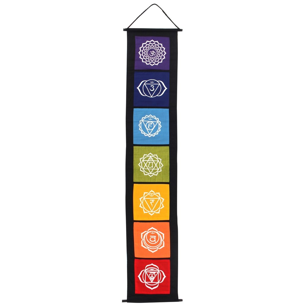 Something Different Colourful Chakra Simbolo Hanging Tessuto Banner CK_38716
