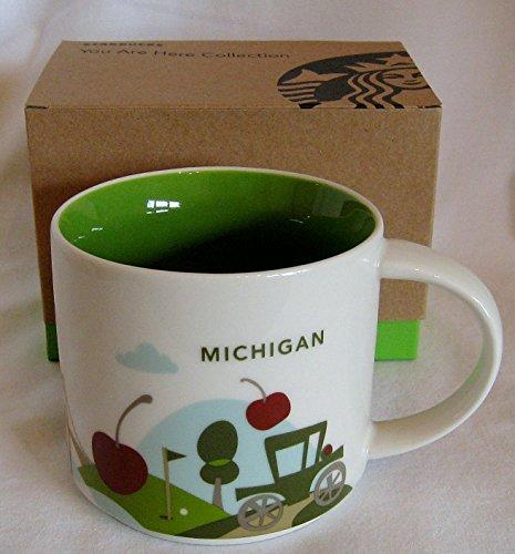 Starbucks Coffee Mug You Are Here Solicitation, Michigan, 14 oz