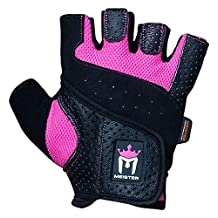 Meister MMA Women's Fit Weight Lifting Gloves Pair-Pink-Medium