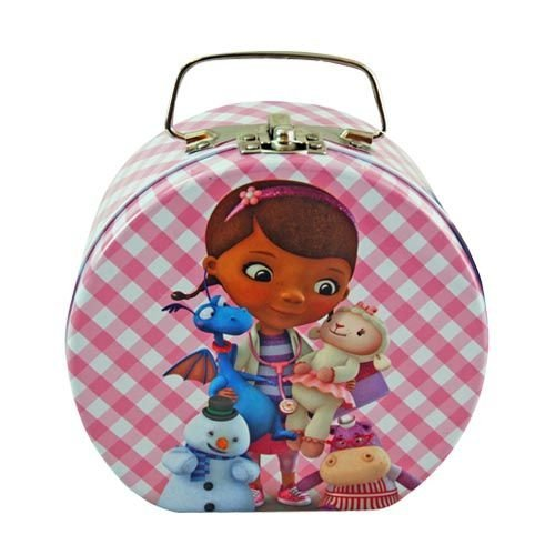 - Disney Doc McStuffins Semi-round Shaped Metal Tin Carrying Case - Lunch Box, Storage