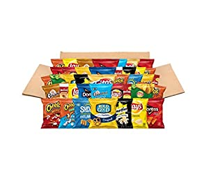 Ultimate Snacks Care Package, Classic Variety Assortment of Chips, Cookies, Crackers, Nuts, 40 Count