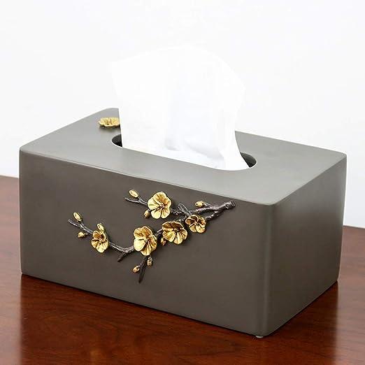 LYYRB Caja De Pañuelos. Grabado De Resina. Caja De Almacenamiento De Pañuelos De Escritorio Ecológica For El Hogar Y La Oficina Gris. Caja de pañuelos (Color : B): Amazon.es: Hogar