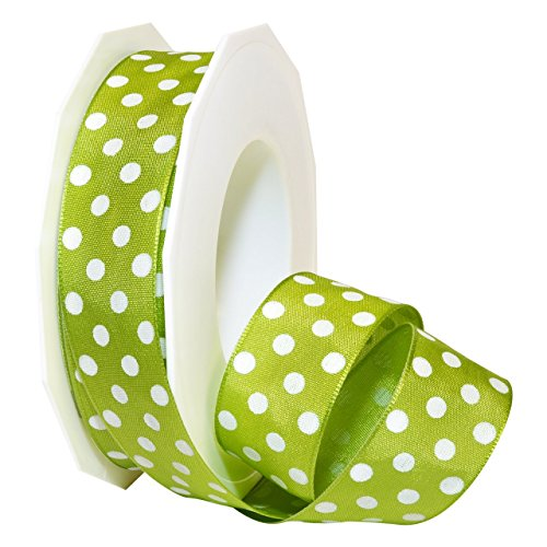 - Morex Ribbon 59825/20-027 French Wired Acetate Polka Dots, 1