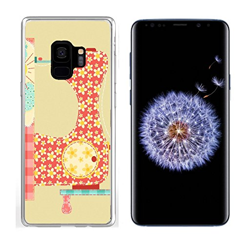 Samsung Galaxy S9 Clear case Soft TPU Rubber Silicone Bumper Snap Cases IMAGE 11913845 Sewing machine Patchwork vintage series