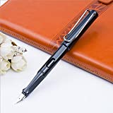 Oerla FP6-129 Personality Ergonomic Triangular Grip Fountain Pen for Signature Calligraphy Executive Business Office Fountain Pen (Black Ink)