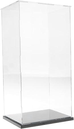 Vitrina de Exhibición Transparente con Base Negro Caja de ...