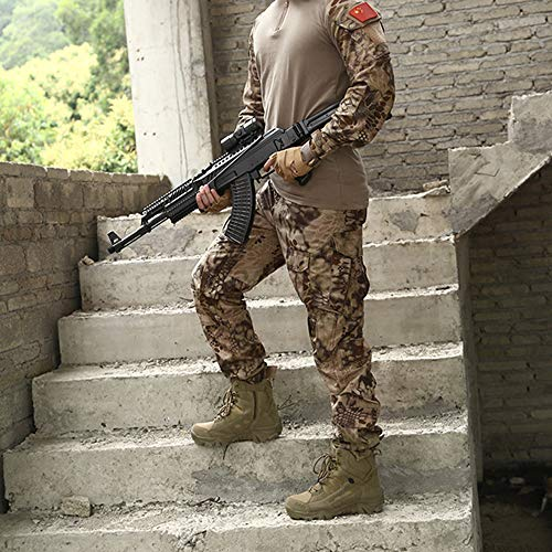 Da Jungle PattugliaOutdoor Shoes Da Brown Hunting Pattini Trekking Da Desert Combat Stivali Army Top High Tattici Uomo LDZY Boots Militari wqAOxnU7fY