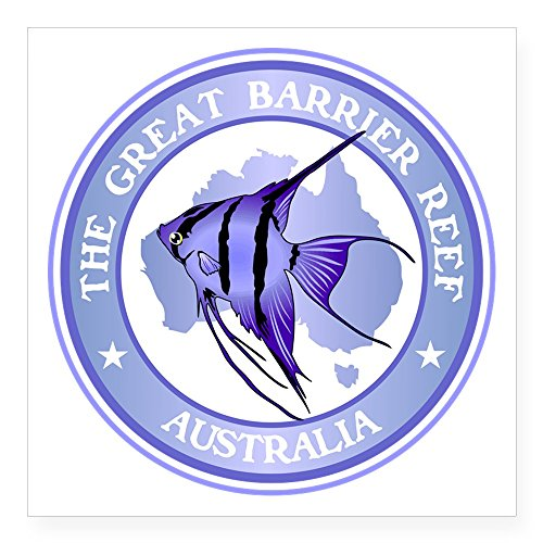 CafePress Australia -The Great Barrier Reef Sticker Square Bumper Sticker Car Decal, 3