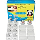 Child Safety Magnetic Locks - Invisible Baby Proof Latch Set 8 Locks & 2 Keys Heavy Duty Locking System for Proofing Cabinets Drawers Doors Kitchen with 3M Adhesive (Tools aren't required)