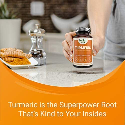 Turmeric Curcumin with BioPerine Black Pepper Extract Highest Potency 95 Curcuminoids Vegan Joint Support Healthy Inflammatory Response Supplement Highest Potency 95 Curcuminoids Non-GMO