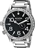 Nixon Men's A057-000 Stainless-Steel Analog Black Dial Watch