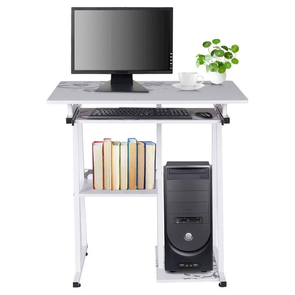 Crazypig Writing Computer Desk, Desktop Computer Desk Laptop Study Table Office Desk with Pullout Keyboard Tray by Crazypig