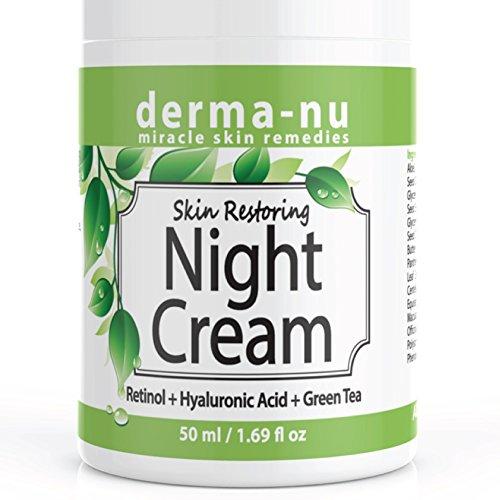 Skin Restoring Anti Aging Night Cream for Women & Men - Retinol & Hylauronic Acid For Age Defying Night Repair While You Sleep - Advanced Enriched Hydrating & Firming Anti (Derma Skin Cream)