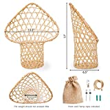 Hanging Rattan Basket, Rustic Wall Planters for