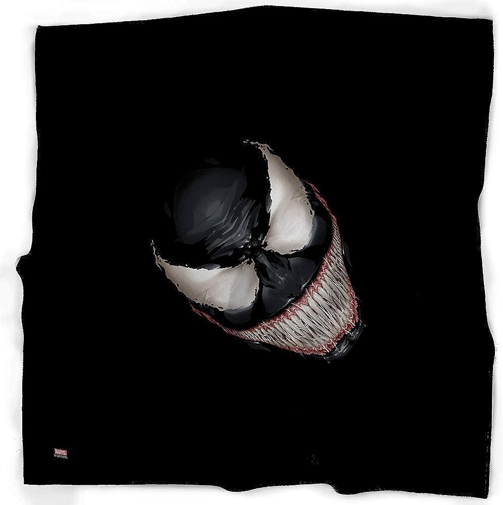 Bandana Venom Teeth Face Centered Black: Clothing
