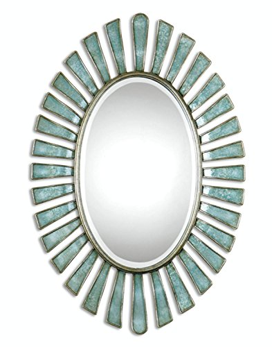 Diva At Home Mermaid Inspired Oval Wall Mirror