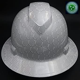 Wet Works Imaging Customized Pyramex Full Brim WHITE CARBON FIBER