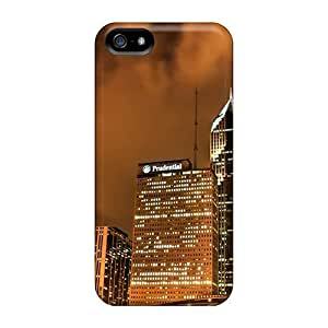 Case Cover, Fashionable Iphone 5/5s Case - Skyscrapers In A Brown Night
