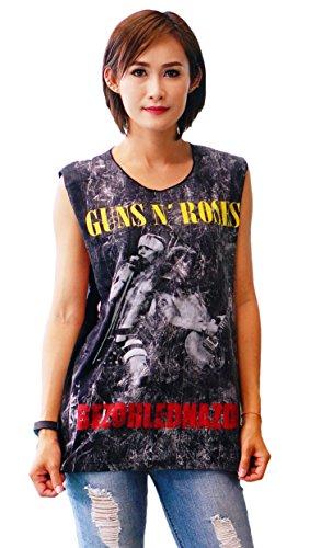 Baseball Jersey Orange Axl (Bkktee Slash Axl Rose Guns N Roses sleeveless Black Tank Top Shirt)