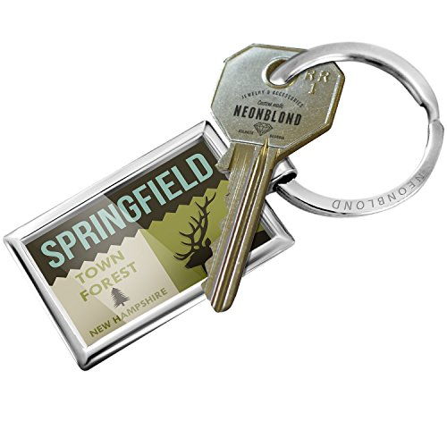 Keychain National US Forest Springfield Town Forest - - Springfield Town