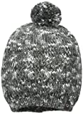 True Religion Women's Multied Colored Knit Hat with Pom, Black, One Size