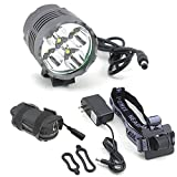Cheap 7000 Lumen 5x Cree XML T6 LED MTB Cycling Bicycle Bike Light Headlight Headlamp Head Light Lamp Torch Waterproof 4x 18650 Battery