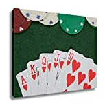 Ashley Canvas, Winning Poker Hand And Casino Chips, Home Decoration Office, Ready to Hang, 20x25, AG6430096
