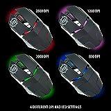 ENHANCE GX-M3 Gaming Mouse - 2800 DPI , Adjustable Weight , Precision Optical Sensor , Adjustable LED , Ergonomic Soft Grips for Dota 2 , League of Legends , World of Warcraft: Legion , Battlefield 1