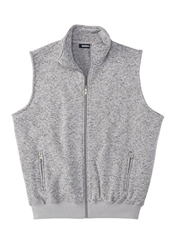 Tall Fleece Zip-up Sweater Vest, Gunmetal Marl Tall-XL (Zip Front Sweater Vest)