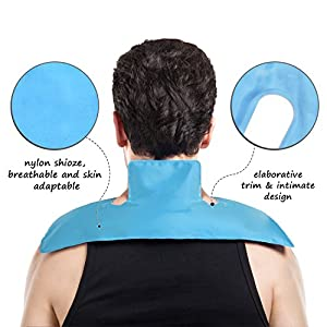 """Rainbow Pain Relief Reusable Large Gel Ice Pack Hot Cold Therapy Pack Great for Neck, Shoulder, Waist & Lower Back, Calves, Knee, Ankle - Great for Injury, Sprain, Bruise, 15""""x 5.9"""""""