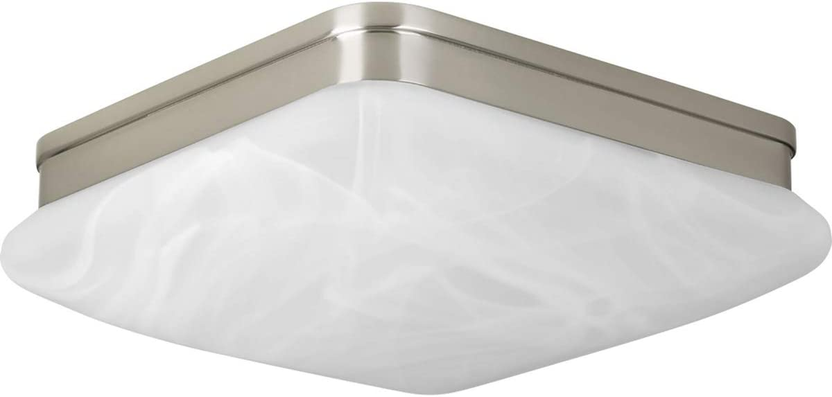 """Progress Lighting P3551-09 Transitional Two Light Flush Mount from Appeal Collection in Pwt, Nckl, B/S, Slvr. Finish, 11"""", Brushed Nickel"""